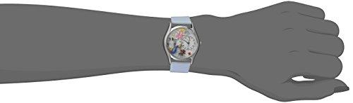 Skurril Uhren Kinderarzt Royal Blau Leder und Silvertone Unisex Quarzuhr mit weißem Zifferblatt Analog-Anzeige und-Lederband s-0610017 - 2
