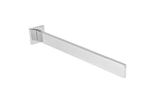 Gedotec Design Handtuchstange 1-armig Wand-Handtuchhalter einarmig eckig für Bad - WC und Toilette - Modell Lumina   Länge 325 mm   Chrom poliert   1 Stück - Handtuchreling inkl. Befestigungsmaterial