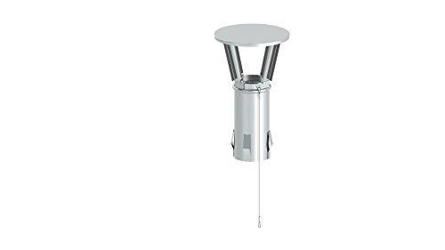 Schornstein – Kamin Regenhaube mit Einschub, vier Federstahlkrallen am Stutzen, Innendurchmesser 180 mm