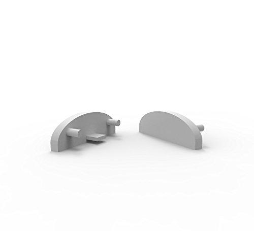 LED Profile Endkappen, Endkapps 2 Stück für LED Profil LT2