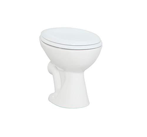 Stand Tiefspül WC Dusch-WC inkl. Softclose Deckel Taharet Bidet Intimdusche Toilette Taharatli Abfluss Wand Creavit TP330 Waagerecht