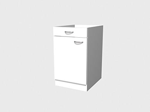 Küchen Unterschrank 50 cm ohne Arbeitsplatte weiss - Witus