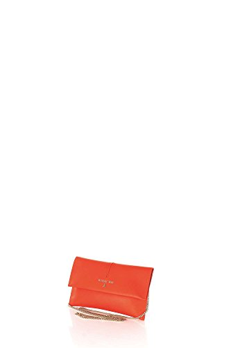Patrizia Pepe Golden Fly Clutch Leder 28 cm Orange