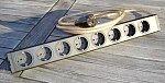 HiFi-Tuning Black Power Netzleiste | Ausführung: 3 x 4,0 qmm/Steckplätze: 8/Stecker: 24 kt. vergoldeter Spezialschukostecker Gold II