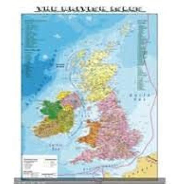 Cartina Geografica Fisica Della Gran Bretagna.Carta Geografica Murale Fisica E Politica Gran Bretagna Amazon It Cancelleria E Prodotti Per Ufficio
