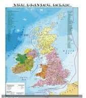 Cartina Geografica Fisica Dell Inghilterra.Carta Geografica Murale Fisica E Politica Gran Bretagna Amazon It Cancelleria E Prodotti Per Ufficio