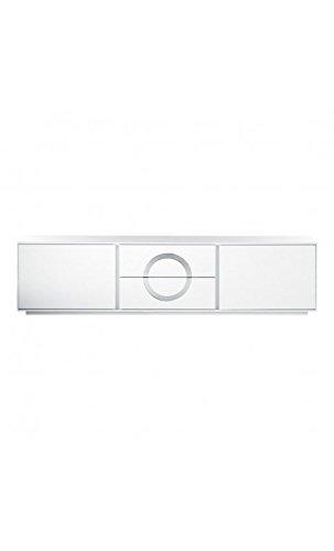 CAMINO A CASA - Meuble TV design laqué blanc et chrome 2 portes ICON