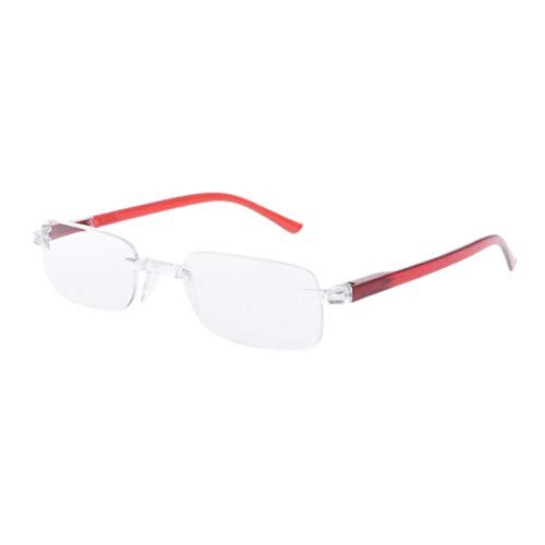Eliky Elegant Ultralight One Piece Randlose rechteckige Lesebrille Brillen Brillen Presbyopie