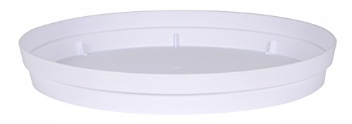 EDA Plastiques Soucoupe Toscane DIAM 15 CM, Blanc, 15x15x3 cm