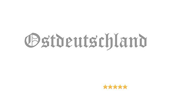Autoaufkleber Ostdeutschland Geplottet Silber Osten Fußball Ca 19x4 Cm Aufkleber Sticker Jdm Tuning Eastside Stickerbomb Moped Motorrad Auto
