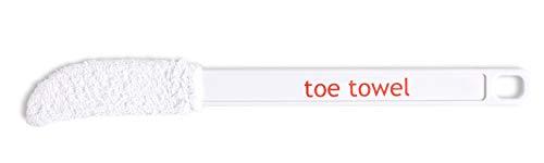 Toecleaner - attrezzo con testina in spugna e impugnatura lunga (22 cm) per pulire, asciugare ed esfoliare tra le dita dei piedi, previene le infezioni fungine (piede d'atleta), ideato da un podologo