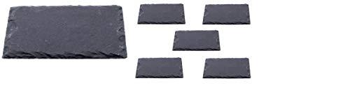 6 x Schieferplatten 30 x 20 cm / Servierplatten, Platzset, Tischset