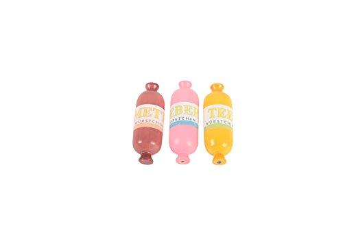 Wurst-Set aus Holz für die Kinder-Spielküche oder Kaufladen Leberwurst, Teewurst und Mettwurst