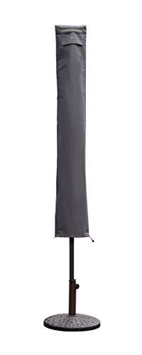 Sekey Housse de Protection pour Parasol,(résistante aux UV et à la poussière et à l'eau, résistante aux intempéries, résistante aux déchirures),Gris