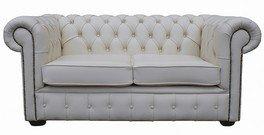 Chesterfield 2-Sitzer weiß Leder Sofa bieten - Leder-sofas Und Zweisitzer