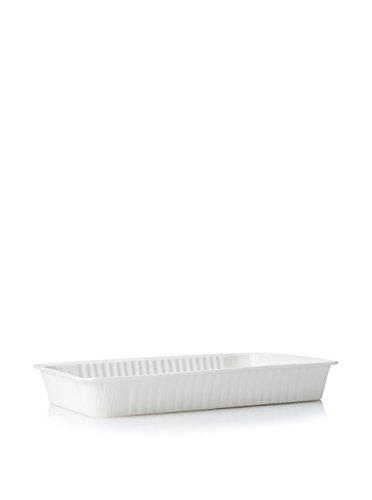 SELETTI – Le Plat à Four rectangulaire en Porcelaine Blanche cm. Impression x 21,5 H.4,5, Blanc