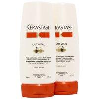 Kerastase Nutritive Lait Vital Conditioner (Cheveux Normaux à légèrement secs) 200 ml (lot de 2)