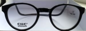 Reading Glasses Clic Black Pantos New Style Magnetic Readers-strength +3.00