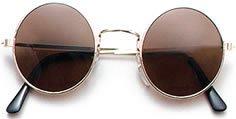 fancy dress warehouse Round Black Sunglasses Glasses Beattles John Lennon Fancy Dress by