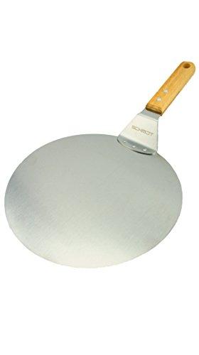 Pizzaschaufel Schmidt, Qualitäts Pizzaschieber aus hochwertigem Edelstahl, Tortenheber, Flammkuchenschaufel, Brotschieber