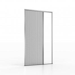 Noflystore platinum.05 zanzariere plissettate su misura per porte, colore: nero, size: 90 x 200 cm, made in italy