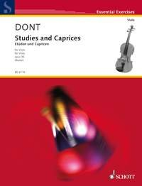 DONT: STUDIES AND CAPRICES  OP 35 (VIOLA)
