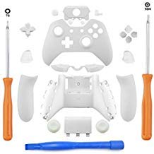 DeHasion Ersatz Matte Controller Full Housing Shell Full Set Faceplates Buttons Xbox One Controller The 3.5mm Headset Jack Xbox One Controller Shell Kit 3.5 Port weiß (Xbox One Matte Weiße Controller)