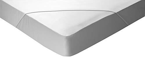 Pikolin Home - Sábana bajera Lyocell2 en 1, Impermeable e Híper-Transpirable. 150 x 190/200, color blanco (Todas Las Medidas)