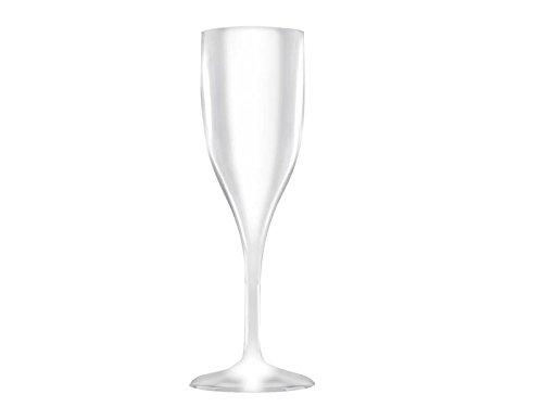 6 flûtes à champagne incassable SAN blanc de 150 cc