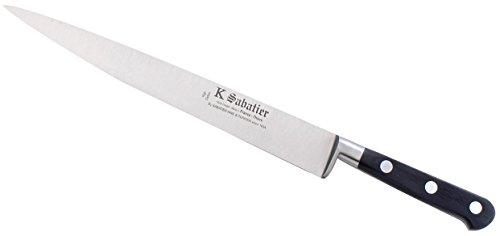 K Sabatier - Tranchelard 25 Cm K Sabatier - Gamme Vintage Au Carbone - Acier Carbone - Manche Noir - 100% Forge - Entièrement Fabrique En France