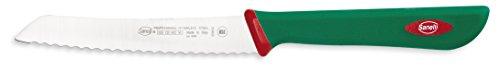 Sanelli Línea Premana Professional,Cuchillo Tomate Cm.12,Acero Inoxidable,Verde y Rojo,23.0x1.5x2.5 cm