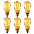 Vintage Edison Bulbs 40W - Oak Leaf E27 Screw Base ST64 Retro Light Bulb (Old Fashioned Style), Squirrel Cage Tungsten Filament Glass Antique Lamp by Oak Leaf