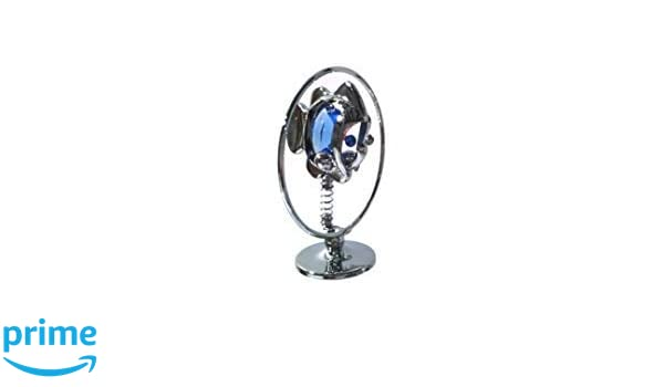 Crystocraft Freestanding Silver Plated Coral Fish Ornament Made With Swarovski C