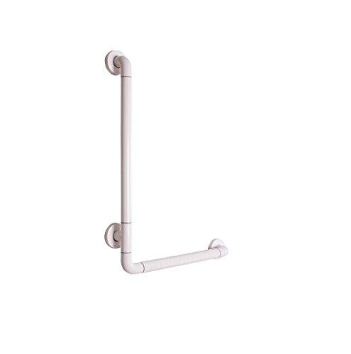 L-Typ Badezimmer Anti-Rutsch Handlauf/WC Badezimmer Alter Mann Behinderte Barriere Freie Geländer/Griff 50 * 70cm Weiß Gelb (Farbe : Weiß) -