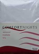 Comfortnights Single Terry wasserdichte Bettdecke Protector 135 x 200cms