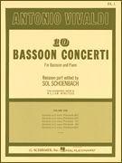 Antonio Vivaldi: 10 Bassoon Concerti For Bassoon And Piano Volume 1. Für Fagott, Klavierbegleitung