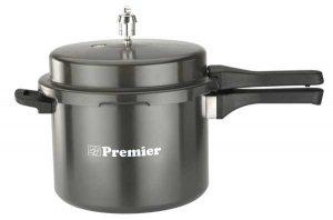 Premier Aluminium Hard Anodized Smart Pressure Cooker (5Ltr)