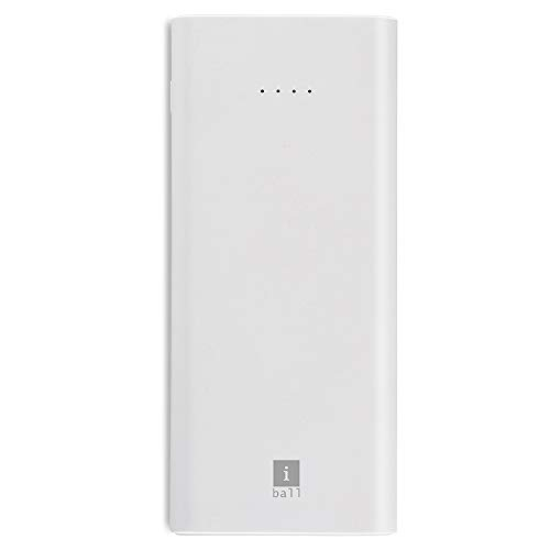 iBall 10000mAh Li-Polymer Slim Design Smart Charge Powerbank - LPS 10000 (White)