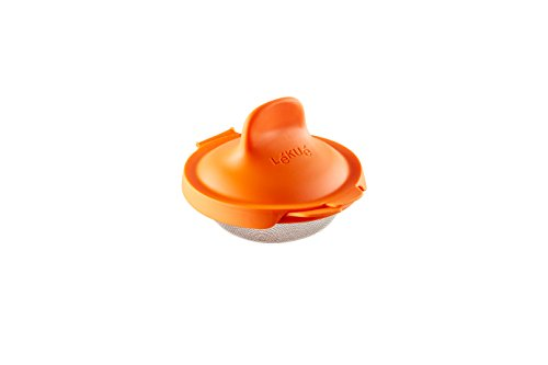 Lékué Escalfador de Huevos, Acero Inoxidable, Naranja, 9,3 x 11 x 7,5 cm