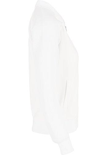Urban classics veste à manches raglan pour femme scuba en maille pour homme Blanc (Offwhite)
