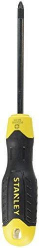 Stanley Schraubendreher Cushiongrip Pozidriv (Pozidrivspitze Nr. 2, 100 mm Schwertlänge) 1 Stück, 0-64-974