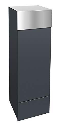 Frabox® Design Paketkasten anthrazitgrau RAL 7016 Edelstahl - jederzeit bequem Pakete empfangen