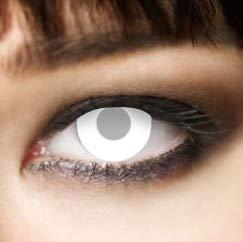 Weiße farbige Kontaktlinsen Blind White 40% Sehvermögen ohne Stärke 3 Monate Zombielinsen, Fastnacht, Vampir, zombie schminke