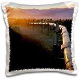 Alaska - Alaska, Brooks Range, Trans-Alaska Oil Pipeline 16x16 inch Pillow Case (Brooks Trans-alaska-pipeline Range)
