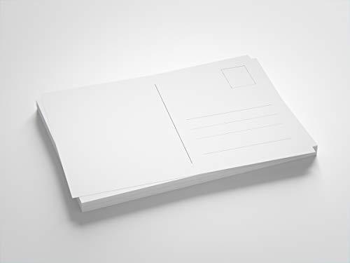 Blanko Postkarten weiß, Format DIN A6, zum Selbstgestalten oder Bedrucken (DIN A6, 180 Stück)