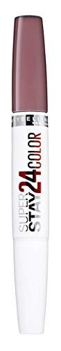 Maybelline Superstay 24H Lippenstift Nr. 310 Bois de Mauve, farbintensiver, flüssiger Lippenstift mit bis zu 24 Stunden Halt, patentierte Micro-Flex-Formel, mit integriertem Pflegebalsam, 5 g -