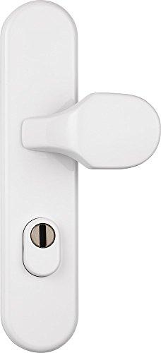 ABUS Tür-Schutzbeschlag KLZW714 W weiß mit Zylinderschutz rund 12235