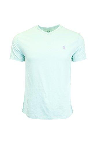ralph-lauren-herren-t-shirt-blau-summer-turquoise-m-gr-s-tyler-green