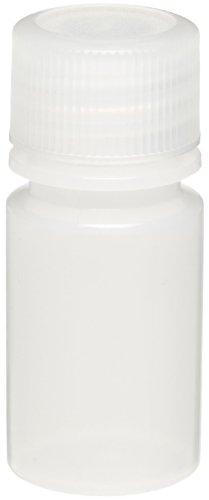 Wheaton 208924 Auslaufsichere LDPE-Flasche mit enger Öffnung und 20-410 Schraubverschluss, 25 mm Durchmesser x 56 mm Höhe, 15 mL, Naturbelassen (72-er Pack)