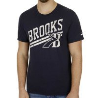 Brooks Herren Heritage Shortsleeve Oberbekleidung, Dunkelblau, M (Kurze Brooks Training Bekleidung)